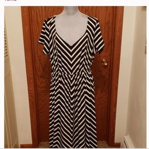 Torrid Black and White Striped Maxi Dress
